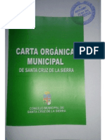 Proyecto de Carta Orgánica Municipal de Santa Cruz de la Sierra