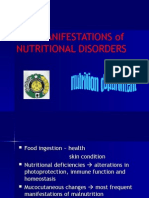 Skin Manifestation of Nutritional Disorders
