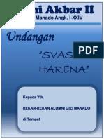 Undangan Reuni Akbar Alumni Gizi Manado 2014