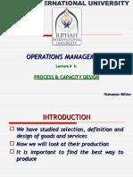 Lecture 6 - Process & Capacity Design