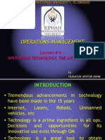 LECTURE 8 - OPERATION TECHNOLOGY, THE INTERNET & ERP.ppt