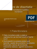 Prezentare Power Point Piata Monetara Si Politici Monetare
