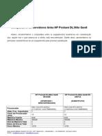 COMPARAÇÃO SERVIDORES GEN8