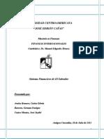 El Sistema Financiero Salvadoreno