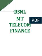 Bsnl Mt Telecom Finance