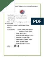 Zonificación Ecológica y Económica de La Sub Cuenca Del Rio Cumbaza