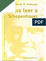 Aramayo Roberto Leer Schopenhauer Alianza 2001