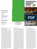 DZ99   flyer Internationaal badmintontornooi 2015