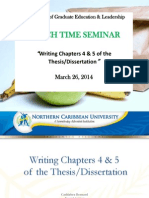 Writing Chapter 4 & 5 of the Thesis (March Lunchtime Seminar) - PDF
