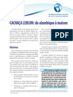 Cachaça Leblon SEBRAE