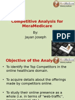 Competitive Analysis for MeraMedicare