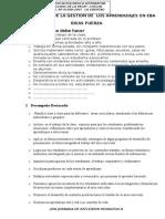 Lineamientos de gestion de los aprendizajes