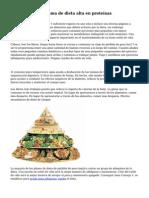 Consejos de programa de dieta alta en prote?nas