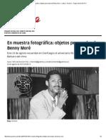 En Muestra Fotográfica_ Objetos Personales de Benny Moré › Cultura › Granma - Órgano Oficial Del PCC