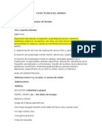 FICHA TÉCNICA TEST DE BENDER