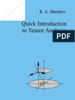 A QuiQuick Introduction to Tensor Analysisck Introduction to Tensor Analysis - R. Sharipov