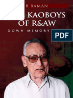 The Kaoboys of R&AW - B. Raman