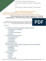 Aspectos Filosóficos e Jurídicos Sobre a Morte, A Eutanásia, A Ortotanásia e o Suicídio Assistido (Marilene Araújo)