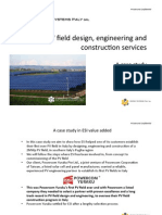 Utility scale solar photovoltaic system installation case study