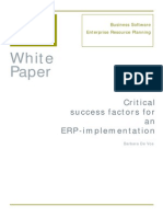 white paper critical success factors for an erp-implementation