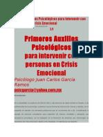 Rimeros Auxilios Psicológicos Para Intervenir Con Personas en Crisis