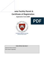 Waste Facility Permit Form