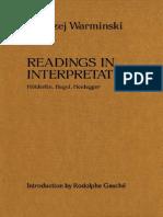 Warminski, Andrzej - Reading in Interpretation. Hölderlin, Hegel, Heidegger