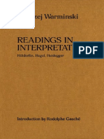 Warminski, Andrzej - Reading in Interpretation. Hölderlin, Hegel, Heidegger
