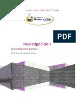 Investigacion I Construccion e Instalaciones I 2-2015