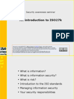 ISO27k Awareness Presentation