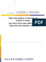 Taller Vision y Mision