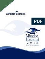 IV Informe Mirador Electoral 2015