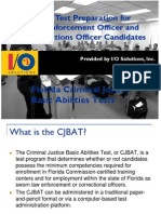 Florida CJBAT Candidate Prep Presentation IO Solutions