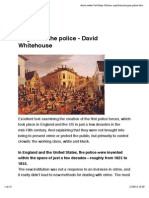 Origins of the Police - David Whitehouse