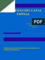 anestesia espinal