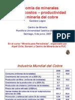 13.- Economia de Minerales Precio-costos-productividad en La Mineria Del Cobre