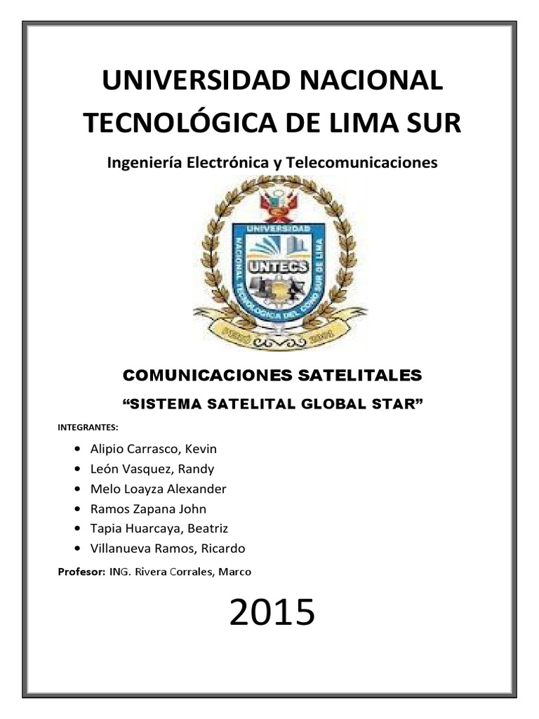 Sistema Satelital GLOBALSTAR