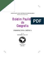 Boletim Paulista de Geografia - Formação Espacial
