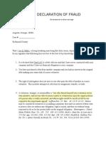 Declaration of Fraud_debt Collector