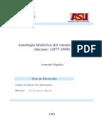 Antologia Historica Del Cuento Literario Chicano