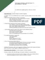 Evaluación Integradora Anual de Lengua y Literatura 4ºA t2