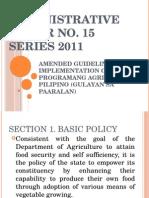 Gulayan Sa Paaralan Amended Guidelines 2011