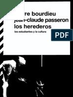 Bourdieu Los Herederos Los Estudiantes y La Cultura(CC)