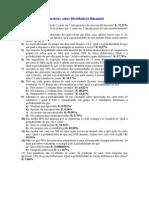 Exercícios Sobre Distribuição Binomial