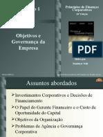 Objetivos e governança de uma empresa