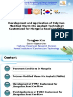 Development and Application of Polymer-Modified Warm-Mix Asphalt Technology Customized for Mongolia Road Condition