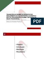 TRANSIÇÕES NO REGIME DE DESGASTE POR DESLIZAMENTO DO AÇO INOXIDÁVEL AUSTENÍTICO AISI 316L PROCESSADO A PLASMA