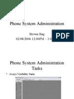 Voice System Administration Tasks