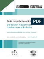 GPC Neonato Con Trastorno Respiratorio
