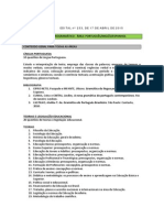 Letras Portugues Ingles e Espanhol Conteudo Programatico